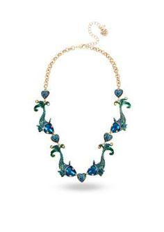 Betsey Johnson Multi Gold-Tone Fish Collar Necklace