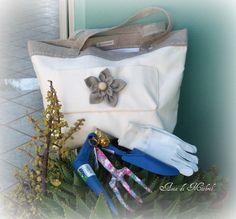 """""""Una borsa in stile shabby ovviamente fatta da me"""" - Axia Di Mithril"""