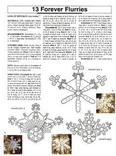 Crochet snowflakes chart