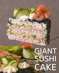 Salmon Recipes, Seafood Recipes, Asian Recipes, Appetizer Recipes, Cooking Recipes, Healthy Recipes, Easy Sushi Recipes, Cooked Sushi Recipes, Healthy Sushi
