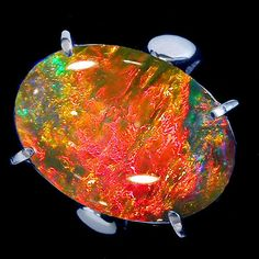 This opal looks like molten lava.