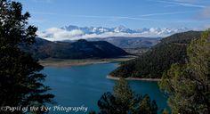 The San Juan Mountain Range from Ridgway State Park over Ridgway Reservoir