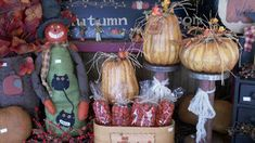 C & C Furnishings: FALL HAS ARRIVED! Primitive Homes, Primitive Fall, Country Primitive, Fall Store Displays, Berry Garland, Autumn Display, Harvest Decorations, Home Decor Store, Fall Harvest