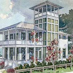 1000 images about b architecture west indies style on for Lookout tower house plans