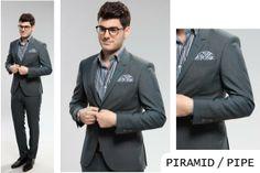 PIRAMID / PIPE | Seroussi -producător și distribuitor de costume bărbătești Suit Jacket, Costumes, Suits, Table, Jackets, Fashion, Down Jackets, Moda, Dress Up Clothes