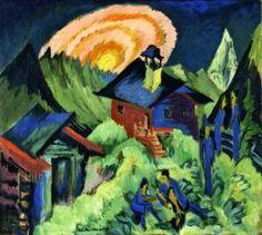 Rising Moon on the Stafelalp - Ernst Ludwig Kirchner - The Athenaeum
