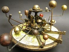 Orrery Steam Punk Assemblage by urbandon by urban don, via Flickr