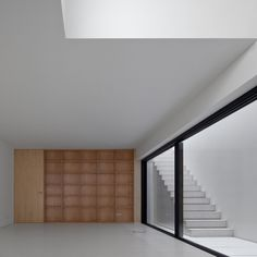 Build-in shelves inside the House in Juso by ARX Portugal.