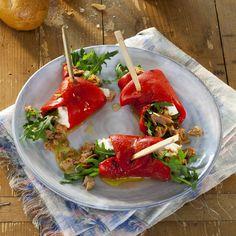 Gegrilde paprikarolletjes met tonijn