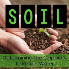 What type of soil has the greatest capacity to retain water? A Free Printable Investigation for your Students!