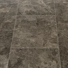 Floorgrip 95 Rapallo Dark Marble Tile Effect Vinyl Flooring