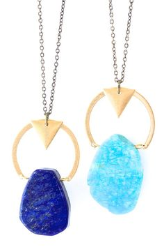 bright and geometric pendants - love these for summer!
