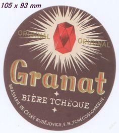 PEMD 1 ks stará etiketa GRANÁT BUDVAR (6395911772) - Aukro - největší obchodní portál