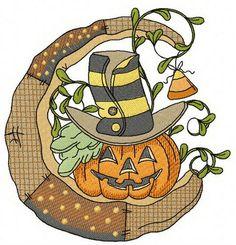 Halloween pumpkin machine embroidery design. Machine embroidery design. www.embroideres.com