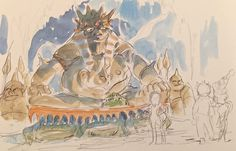 Period Drama Motif ===== The drawings Miyazaki accumulated between 1980-1982 formed the basis for the work of Nausicaa to Princess Mononoke; however, he added more science fiction elements to Nausicaa. ===== Nausicaa, Queen of the Ghouls