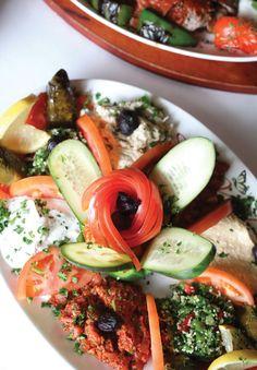 Appetizer sampler at Cafe Shish Kebab