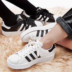 adidas superstar bold sole trainer