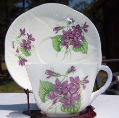 Vintage Shelley Tea Cup Saucer Violets