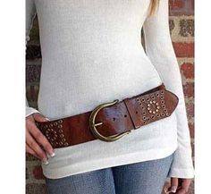 Wide leather belt...a must have!