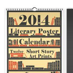 Literary poster calendar