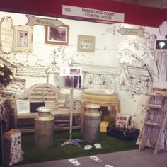Exhibition stand we created for Muddifords court wedding show. Www.beckyjoiner.co.uk