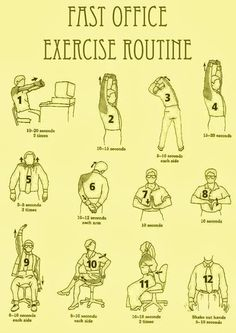 Fast #Office #Exercise routine.