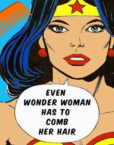 Judy Scott Custom Order  2 Wonder Woman Advice 11X14 by Woofworld, $45.00