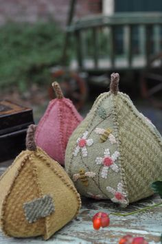 Gorgeous pincushions or just decorations
