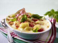 Unser beliebtes Rezept für Caprese-Auflauf mit Gnocchi und mehr als 55.000 weitere kostenlose Rezepte auf LECKER.de.