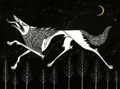 Night Wolf by AmandaMyers