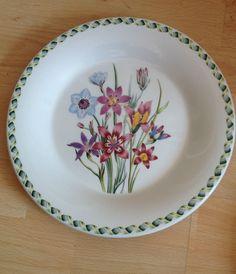 "Portmeirion Pottery / The Ladies Flower Garden 10.5"" Dinner Plate / Rare Trial ?"