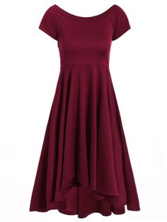 Asymmetric Off-The-Shoulder Semi Formal Swing Dress Business Casual Dresses, Casual Dresses For Women, Clothes For Women, Tent Dress, Swing Dress, Dress Shoes, Dresses Short, Cute Dresses, Prom Dresses
