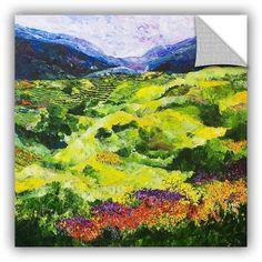 ArtAppealz Allan Friedlander Soft Grass Removable Wall Art, Size: 18 x 18, Green