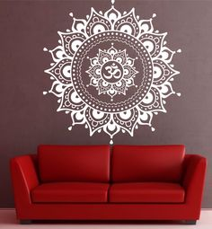 Aliexpress.com: Comprar Mandala Pattern Big Wall Decal Vinyl Art Sticker loto Yoga meditación Home Decor Mural negro blanco de mural de agua fiable proveedores en X City Stickers Decal