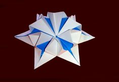Amazing origami flower-star. 3d paper flower! Great Ideas for Christmas ...