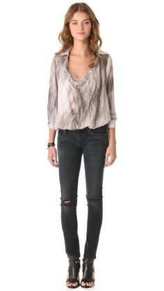 THE DAILY FIND: HAUTE HIPPIE BLOUSE