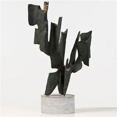 Alicia Penalba (French, 1913–1982) Sculpture , ca. 1960 bronze, gilt highlights 52 x 37 cm. (20.5 x 14.6 in.)