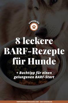 Teddy und Sky werden gebarft. Die Abkürzung BARF steht für nichts anderes als Biologisch Artgerechtes Rohes Futter. Und da ich täglich Fragen bekomme, wie unsere Hundemenüs so aussehen, teile ich heute 8 BARF-Rezepte auf meinem Hundeblog mit euch. #hundeblog Tricks, Food, Natural Dog Food, Cod Liver Oil, Essen, Meals, Yemek, Eten