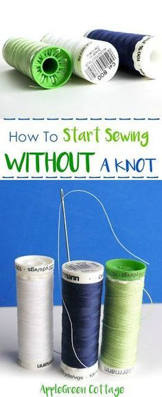 Start sewing without a knot. Check out this little sewing tip to make your handstitching look like pro!