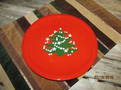 Vintage Waechtersbach Christmas Tree 10  Dinner Plate West Germany & 6 red and green Christmas Tree dinner plates Waechtersbach pottery ...