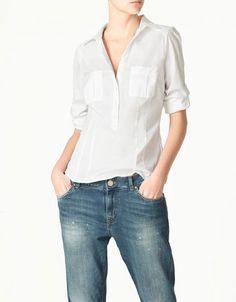 Zara shirt with pockets $39.90