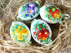 Easter Eggs – Easter duck eggs, hand painted – a unique product by ArtWilk on DaWanda