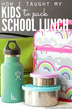 You won't believe this - I taught my kids to make their own school lunch and they love it! I used these 5 simple keys to success & love how my kids learned independence, contentment & healthy habits - all while learning how to pack their own school lunch! Kids Lunch For School, Healthy School Lunches, Back To School, Kid Lunches, School Ideas, Whats For Lunch, Baking Tips, Baking Hacks, Raising Kids