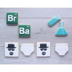 You're welcome, Monday. Breaking Bad Birthday, Breaking Bad Party, Paul Cakes, Breking Bad, Toddler Boy Birthday, Bad Sugar, Fundraiser Party, Hippie Party, Decorated Cookies