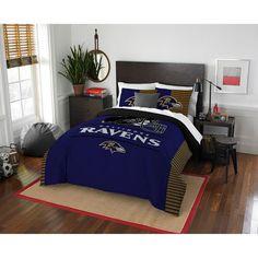 #Fanatics.com - #The Northwest Company Baltimore Ravens The Northwest Company NFL Draft Full/Queen Comforter Set - AdoreWe.com
