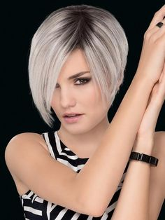 Petite/Average Amaze by Ellen Wille Wigs - Hand Tied, Lace Front, Monofilament Top Wig Short Bob Haircuts, Short Hairstyles For Women, Cropped Hairstyles, Layered Hairstyles, Trending Hairstyles, Pixie Haircut, Fine Hair, Textured Hair, Hair Type
