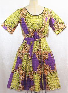 Women's Ankara SEMI-BACk WRAP PLEATED Dress by ChristalinePrints Casual Meeting, Africa Dress, Dashiki Dress, African Design, African Attire, Small Waist, Printed Skirts, Ankara, Vintage Dresses