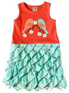 Sam and Sydney Spring Has Sprung Applique Dress Spring 2013 Sewing Ruffles, Ruffle Fabric, Girls Boutique, Boutique Clothing, Applique Dress, Little Girl Outfits, Spring Has Sprung, Spring Dresses, Dress P