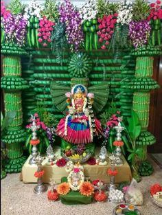 Diy Diwali Decorations, Festival Decorations, Flower Decorations, Wedding Decorations, Diwali Diy, Diwali Craft, Ganapati Decoration, Pooja Room Door Design, Puja Room