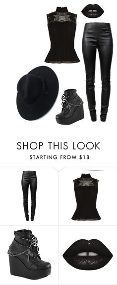 """""""Untitled #33"""" by another-emily ❤ liked on Polyvore featuring Alexander Wang, Karen Millen, Demonia and Chicwish"""